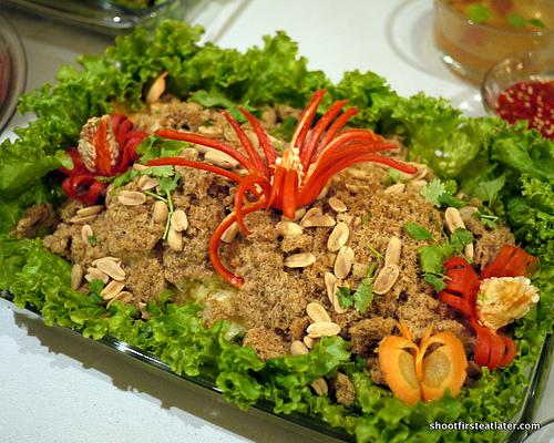 fried catfish salad