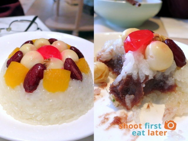 The Dining Room- eight treasures sticky rice with red bean paste HK$28