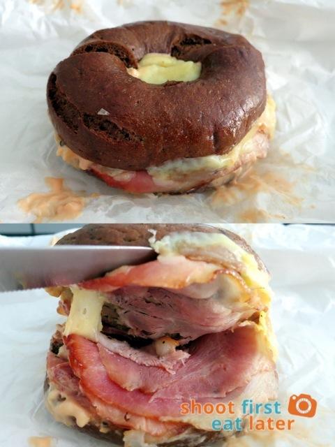 L.E.S. Bagels - The Reuben bagel sandwich P580