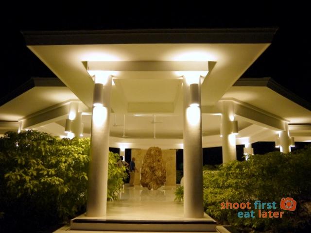 The Balesin Spa at night