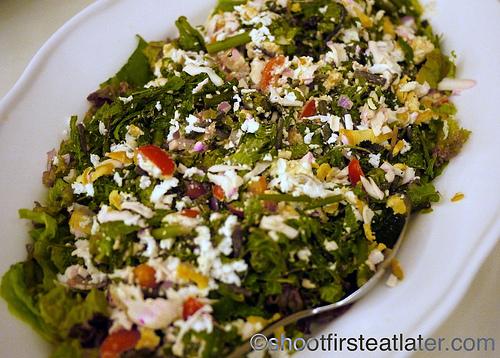 Hamilo Coast buffet lunch-salted egg and tomato salad