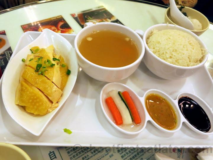 Hainanese chicken rice HK$56