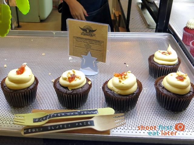 Cupcake Central- peanut butter & jelly gluten free cupcake A$4