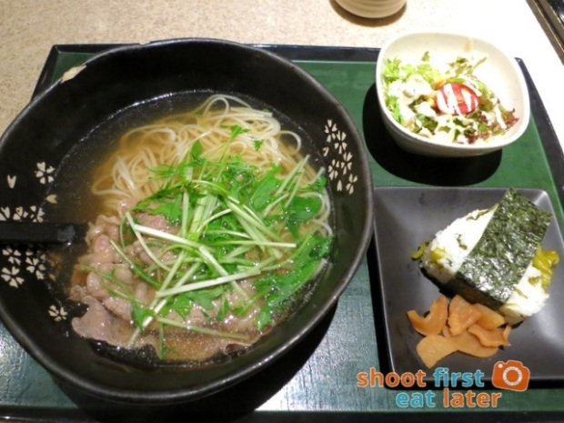 Inaniwa Udon Nabe - Inaniwa udon in soup with prime Angus beef lunch set HK$148-001
