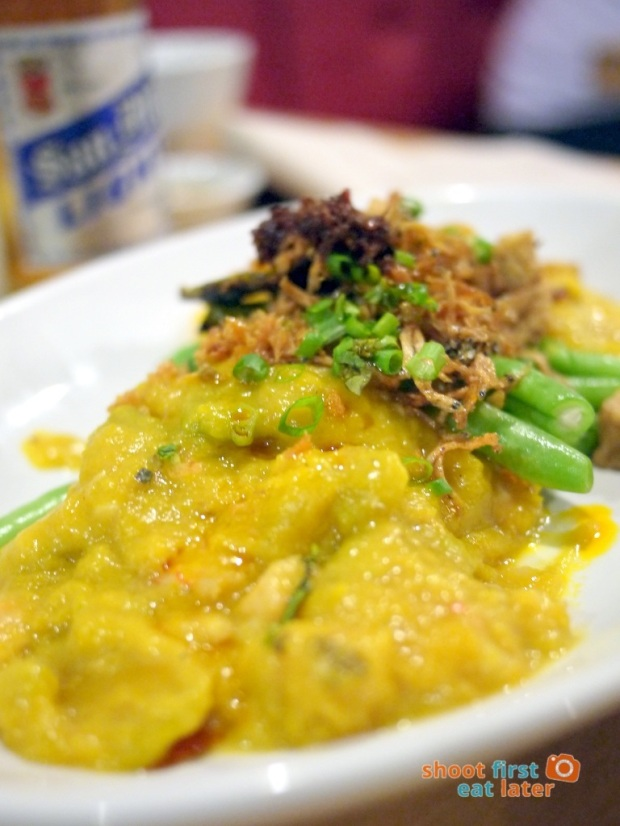 Sarsa Kitchen+Bar- Roasted Kalabasa with Green Beans & Crispy Dilis + Chili Garlic (pumpkin) P175