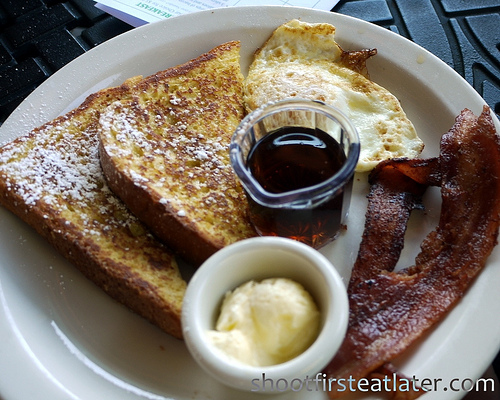 1 Slice French Toast, 2 Strips of Bacon or 2 Sausage Links 'n' 1 Egg