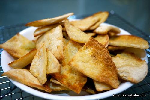 Garlic Parmesan Pita Chips-10