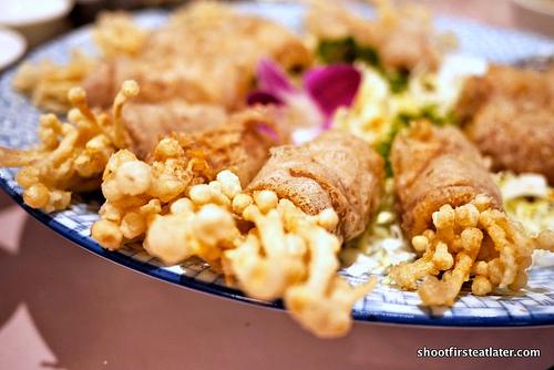 mashed taro w/ golden mushroom