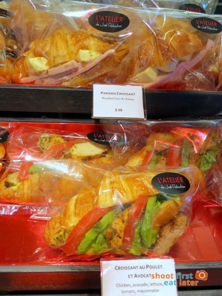Le Salon de Thé de Joel Robuchon (Elements HK)- chicken & avocado croissant, roasted ham & camembert croissant HK$50