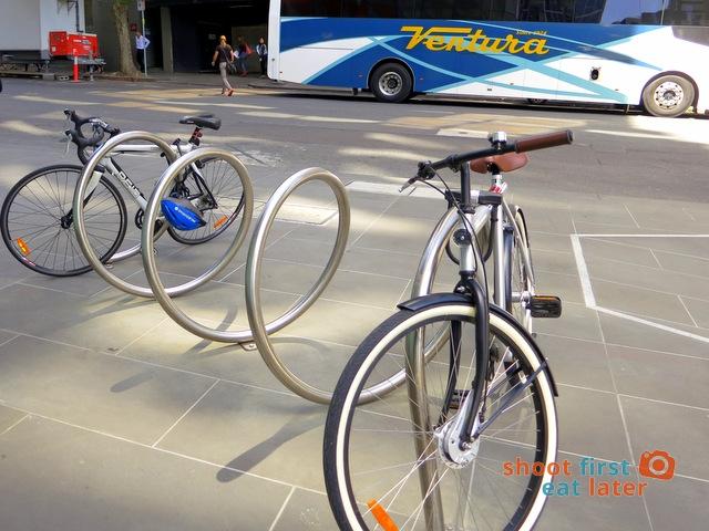 bike rack in Melbourne