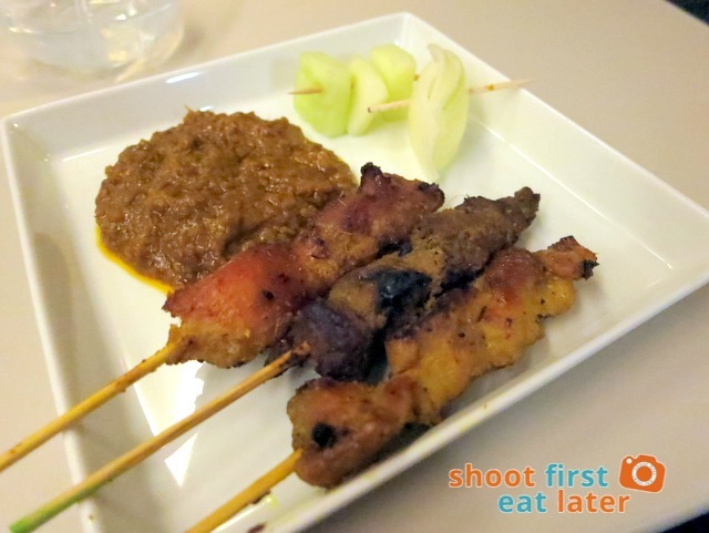 satay with spicy peanut sauce