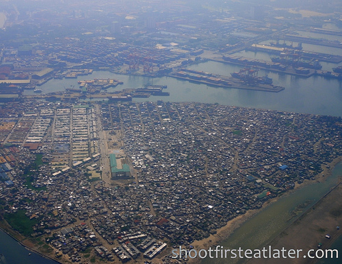 Manila from the plane