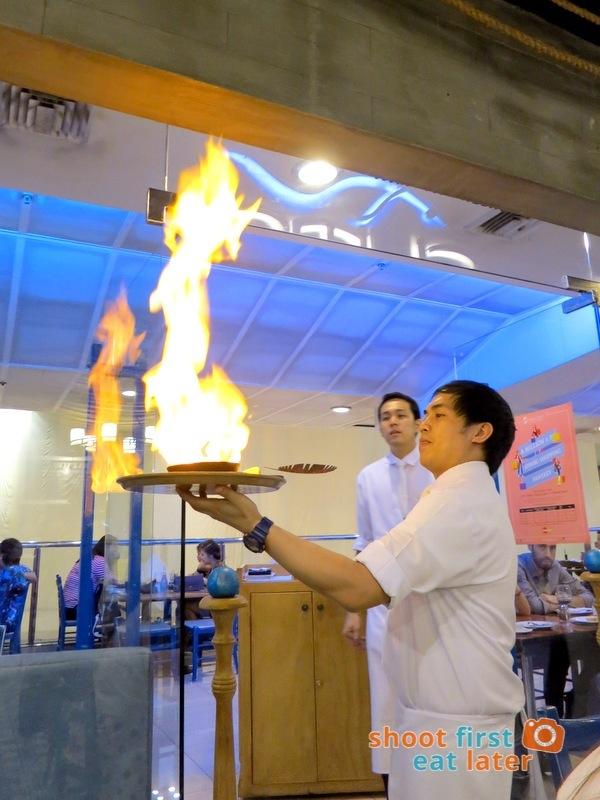 Cyma Restaurant (Shangri-La)- Saganaki (Flaming Mozzarella) P220