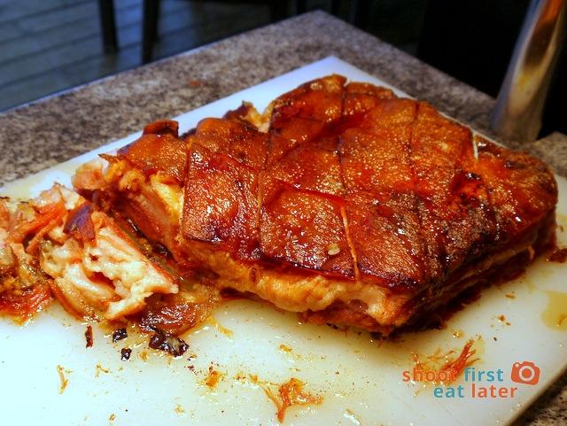 breakfast buffet at Balesin clubhouse- pork belly ham