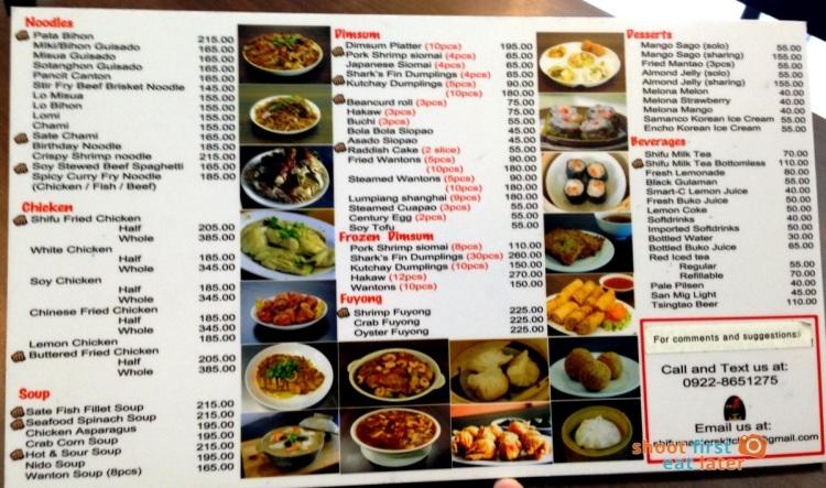 Shifu Master's Kitchen menu-001