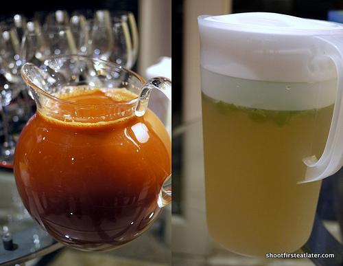 Thai Iced Tea and Lemongrass tea