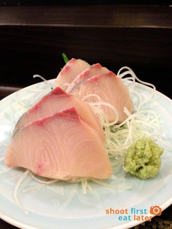 Tanabe Japanese Resaurant- Hamachi sashimi P680