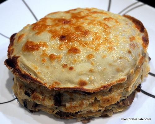 Mushroom Crêpe Cake-11