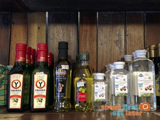 Connie's Kitchen Deli - Ybarra evoo, Molinera white truffle oil P580, virgin coconut oil
