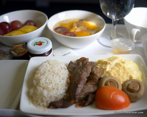 Philippine Airlines food Mnl to Hkg breakfast