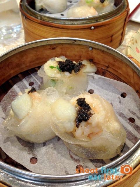 Chuk Yuen Seafood Restaurant- steamed scallop, truffle & bamboo fungus dumplings HK$28