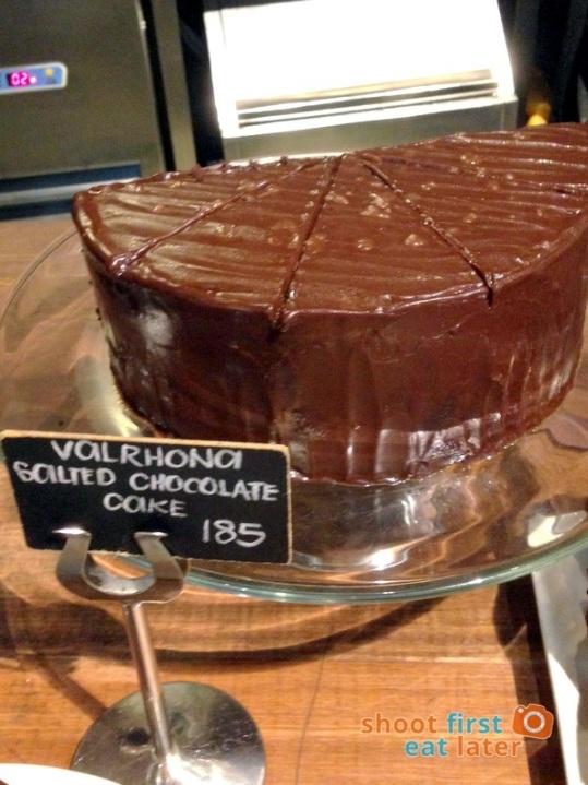 Wildflour Cafe Podium -015 Valrhona salted chocolate cake P185