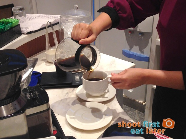 Philippine Airlines Mabuhay Lounge- pour over coffee