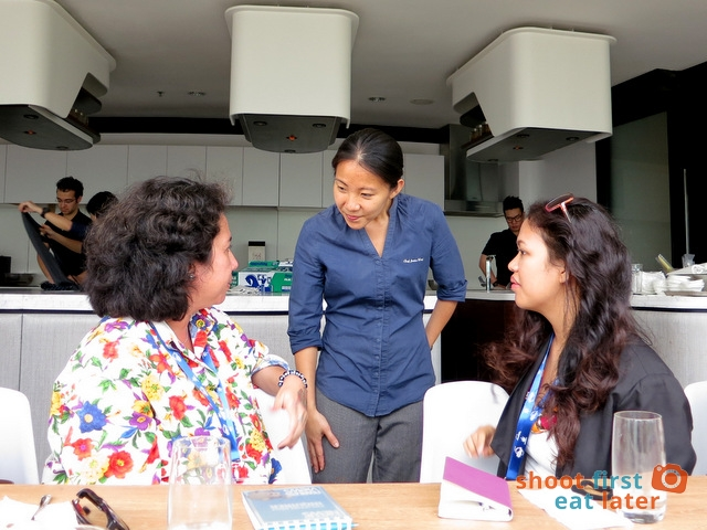 Chef Janice Wong with Alya and Monique