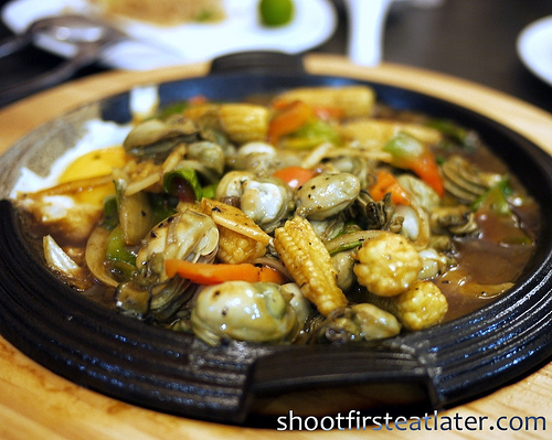 sizzling oyster tausi