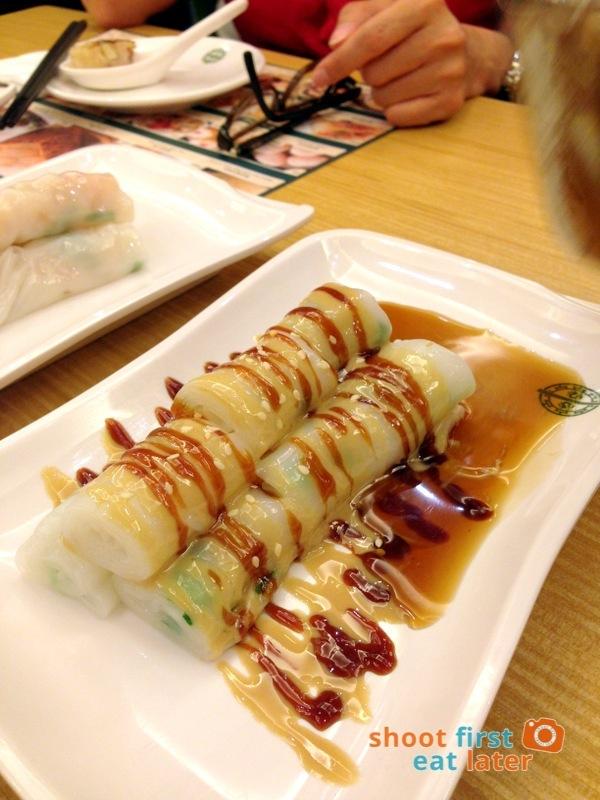 Tim Ho Wan Manila- Vermicelli Roll with Sweet & Sesame Sauce P140