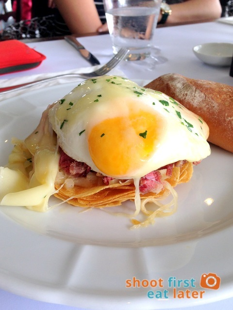 Fresh Corned Beef Roesti w: Swiss Cheese & Over Easy Eggs P350