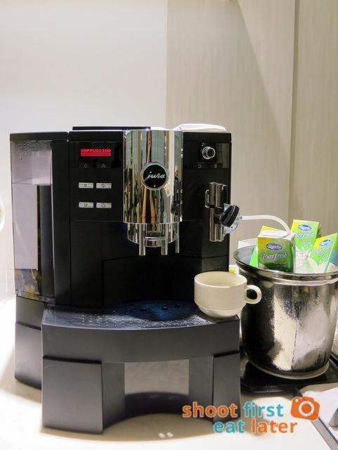 PAL's new Mabuhay Lounge at Naia Terminal 2 - Jura espresso machine