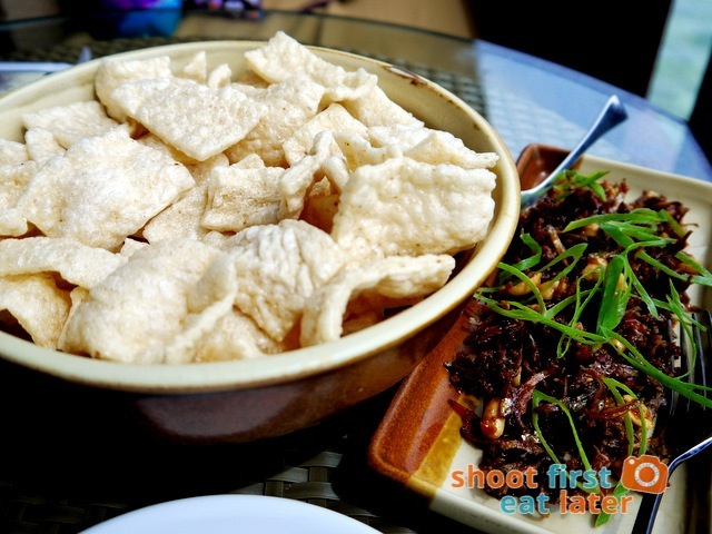 kropek with spicy dilis and peanuts