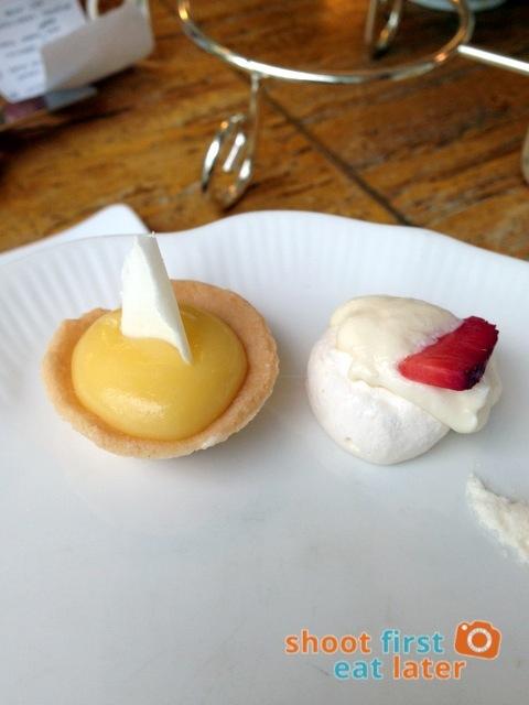 Lusso Afternoon Tea- lemon tart and pavlova