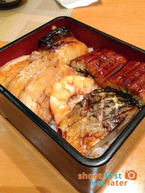 Edo Japanese Restaurant - cod, unagi & mackarel rice