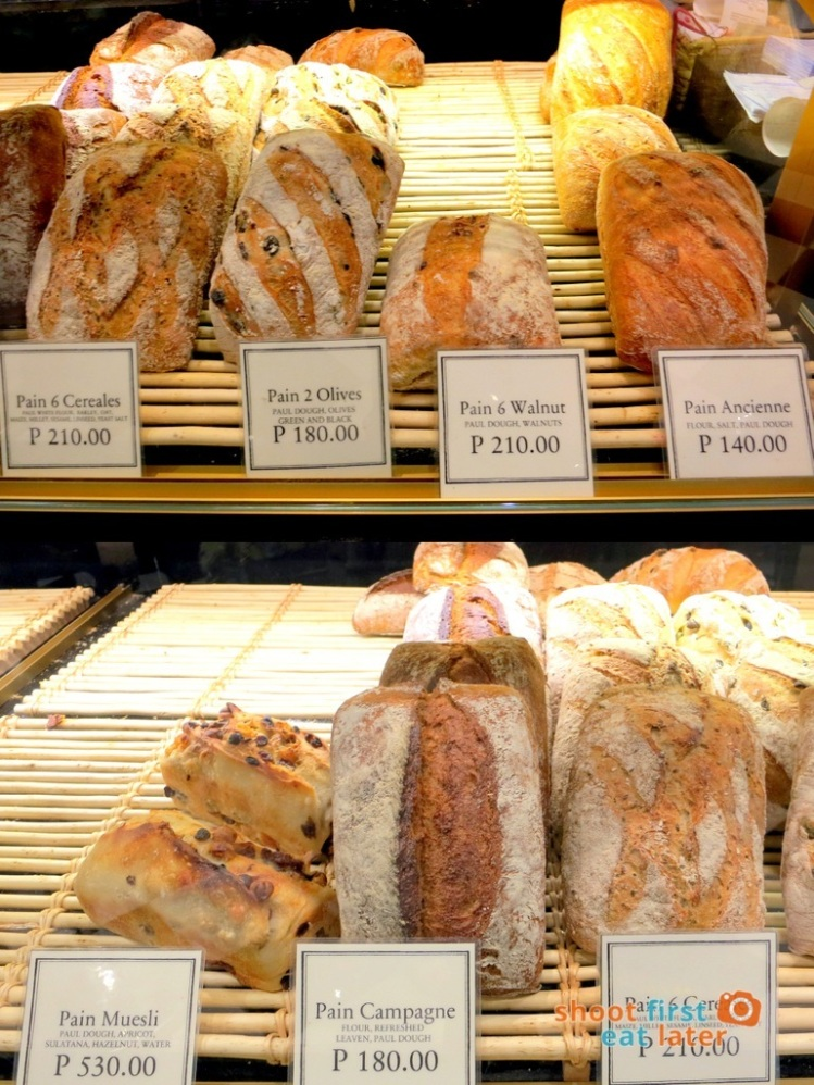 Paul Boulangerie Manila- bread