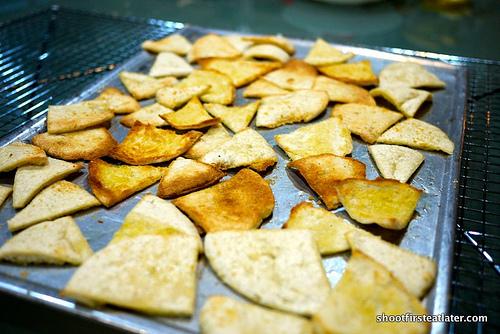 Garlic Parmesan Pita Chips-6