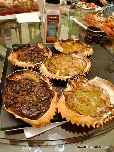 baked garlic crabs