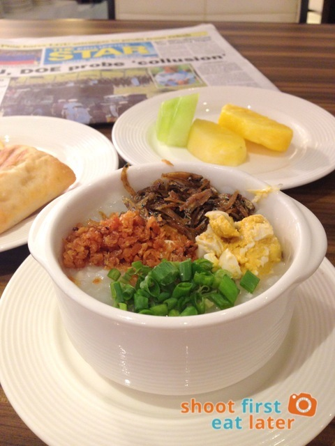 Philippine Airlines Mabuhay Lounge - arroz caldo