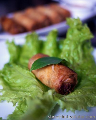 Vietnamese crab & mushroom spring roll-1