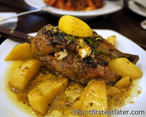 kotopoulo lemonato (Greek chicken adobo)
