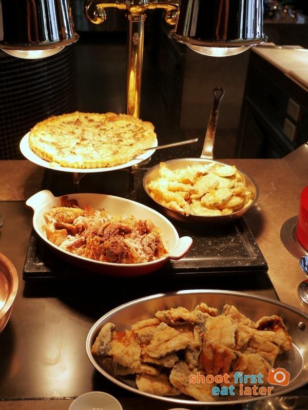 Marco Polo Hotel Ortigas Cucina Restuarant Buffet- fried bangus, lechon kawali, tempura, quiche Lorraine