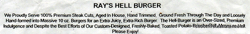 Ray's Hell Burger description