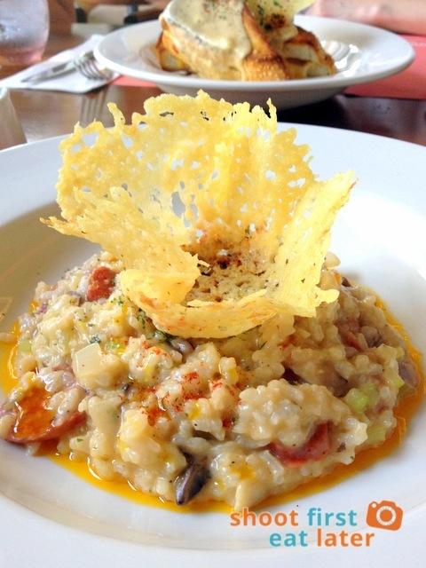 chorizo & mushroom risotto P465