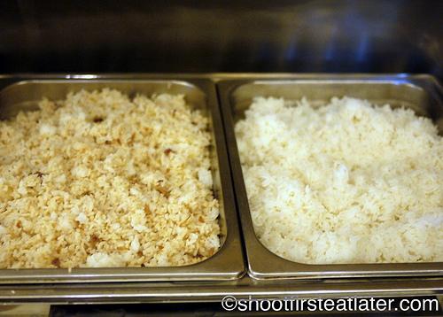 Hamilo Coast buffet lunch-garlic rice