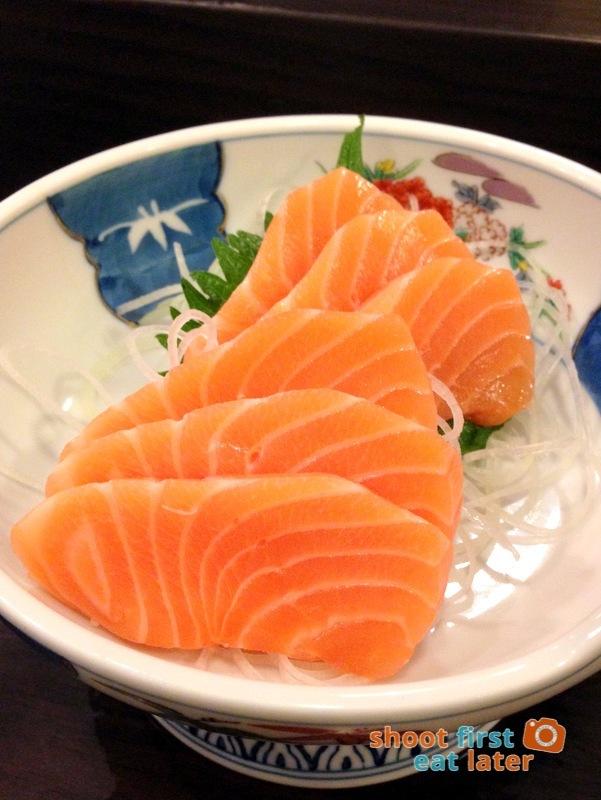 Tanabe Japanese Resaurant- Shake (salmon) sashimi P350