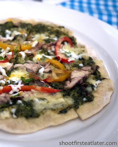 Chicken Fajita Grilled Pizza