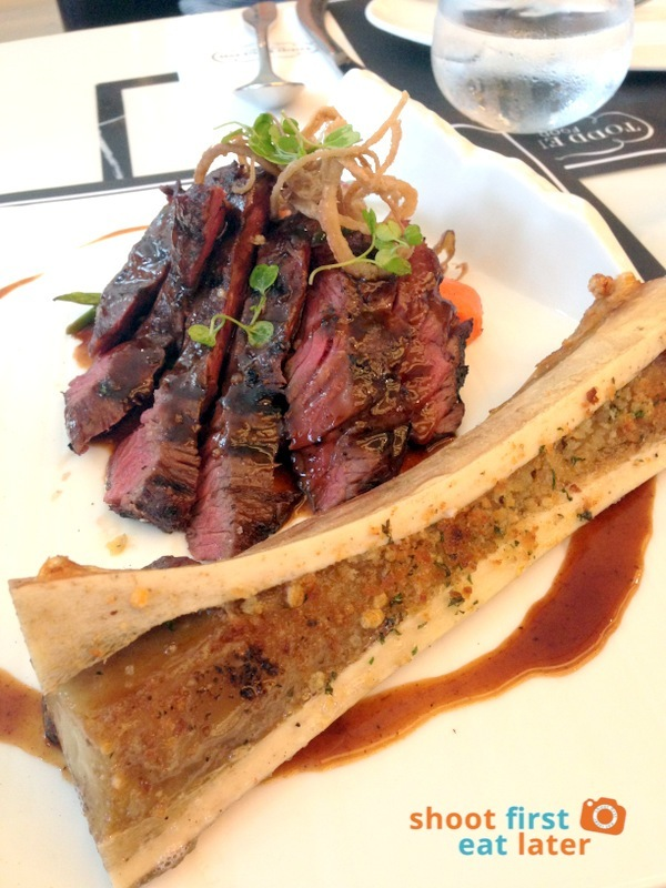 Todd English Food Hall Manila- U.S. Hanger Steak with Roasted Bone Marrow P590