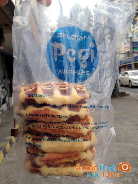 Pegi Waffles- cheese waffles 6 for P200