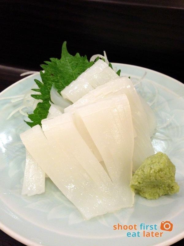 Tanabe Japanese Resaurant- Ika (squid) sashimi P380